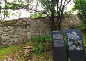 The fortress where the original forms are well preserved
