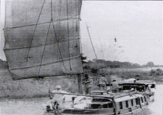 Small steamship ran in Hangang River (1901)